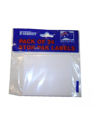 Pack of 24 spare parts tray labels