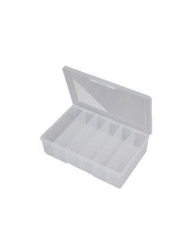 6 Compartment Large Deep Storage Box - Clear