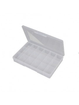 18 Compartment Large Storage Box - Clear