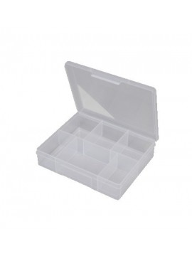 6 Compartment Medium Storage Box - Clear