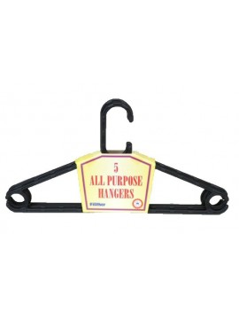 Plastic All Purpose Hanger 5 Packs - 410mm