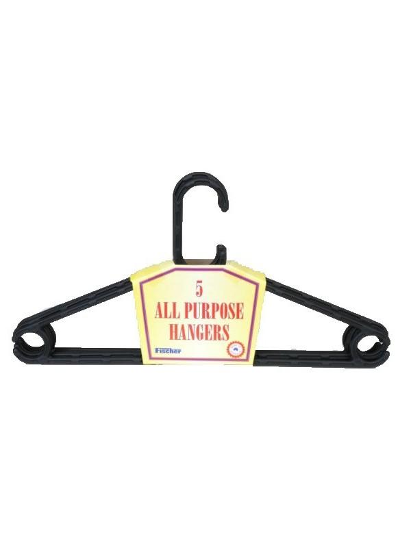 Plastic All Purpose Hanger 5 Packs - 410mm
