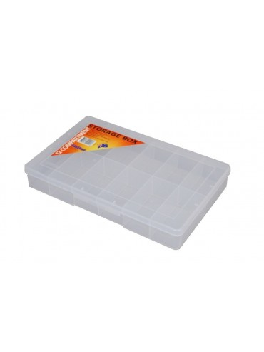 12 Compartment Large Storage Box - Clear