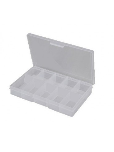 10 Compartment Small Storage Box - Clear