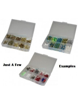10 Compartment NEW Small Storage Box - Clear