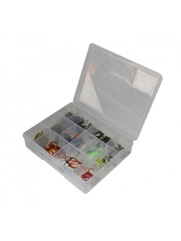 14 Compartment Medium Storage Box - Clear