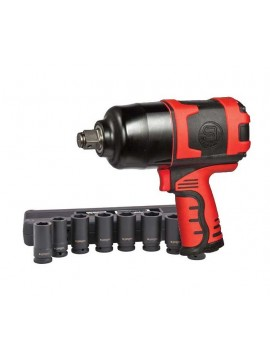"Shinano 3/4"" Heavy Duty Impact Wrench Metric Kit"