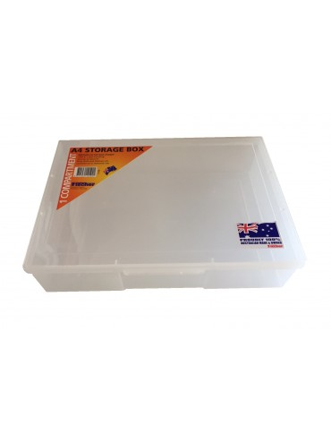 1 Compartment A4 Storage Box - Clear