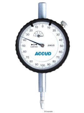 Accud Metric Dial Indicator - Jeweled Bearing