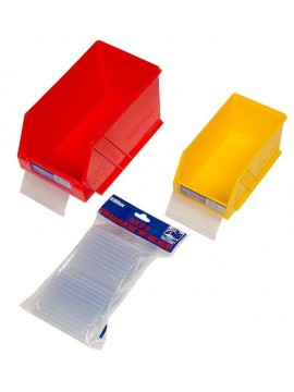 Pack of 24 Label Holders Suit Stor-Pak or Parts Trays