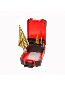 Double Spiral Step Drill Set  - 3 piece