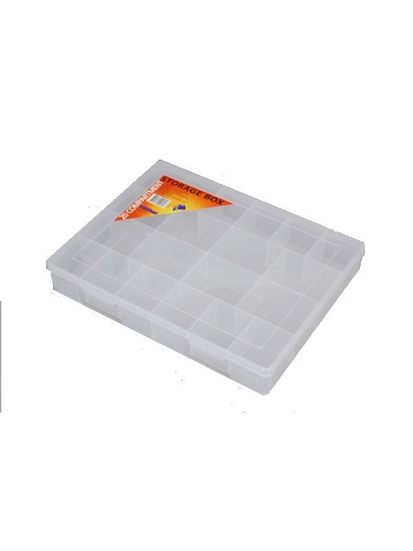 20 Compartment Clear Storage Box