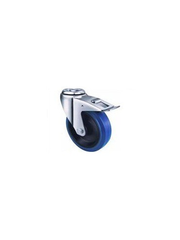 Industrial Blue Rubber - Bolt Hole Type with Brake