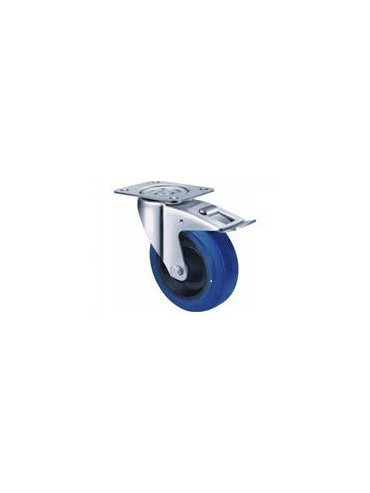 Industrial Blue Rubber - Swivel Plate and Brake