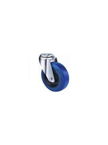 Industrial Blue Rubber - Bolt Hole Type
