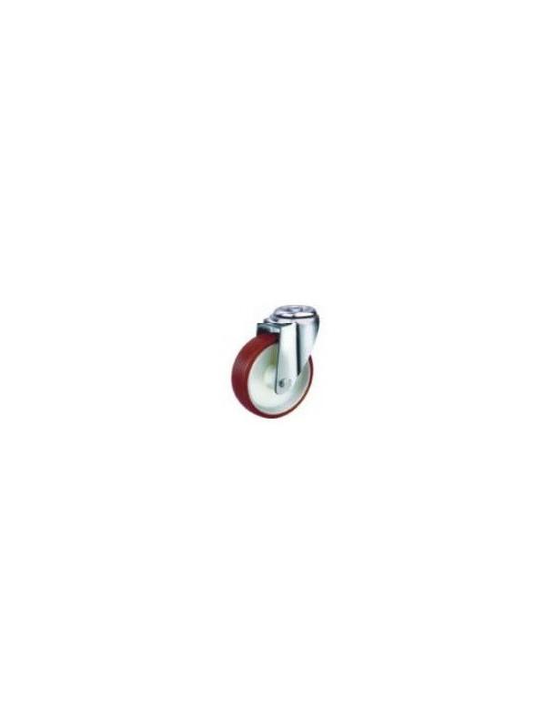 Industrial Urethane Bolt Hole Wheel 160mm