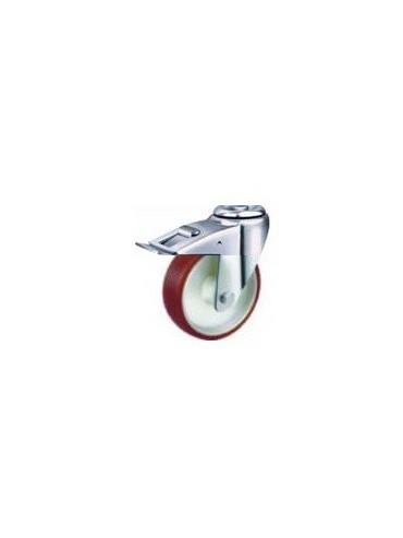 Industrial Urethane Bolt Hole Wheel and Brake