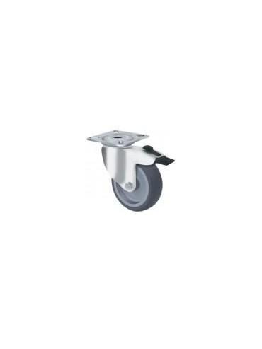 Light Duty Grey Rubber - Swivel Plate Type