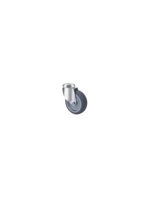 Light Duty Grey Rubber Bolt Hole Wheel