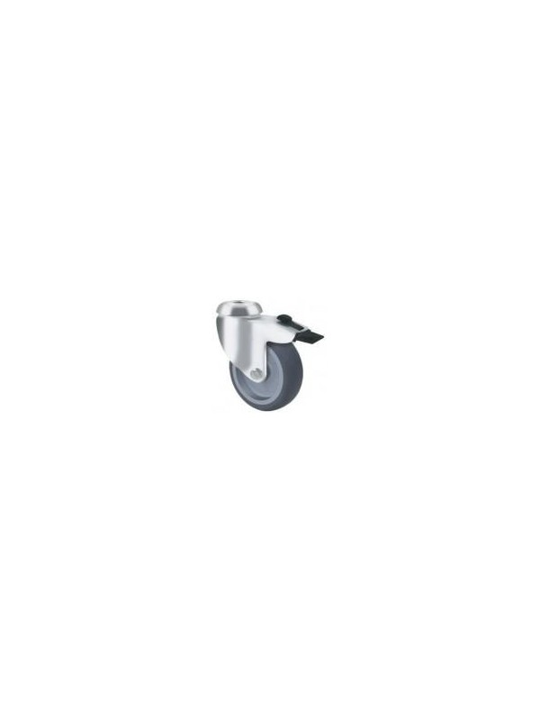 Light Duty Grey Rubber - Bolt Hole Type with Brake